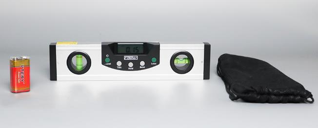 Rango de medición: 4 x 90°.Resolución: 0.05 °. Lectura reversible para uso invertido. Incluye viales de nivel bidireccional y plomadas. Batería e