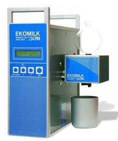 El analizador de células somáticas Ekomilk Scan está diseñado para un control rápido y rentable de la calidad de la leche en las explotaciones le