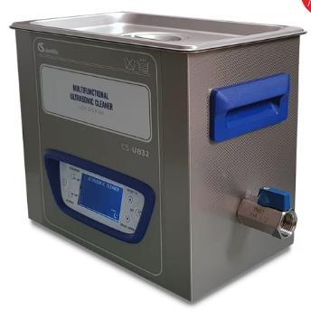 Capacidad: 3.2 L (Max.) Temperatura ambiente a 60°C Frecuencia: 40 KHz Poder Ultrasonico: 120 W (Máx.), ajustable Temporizador: 1 - 99 minutos. 120