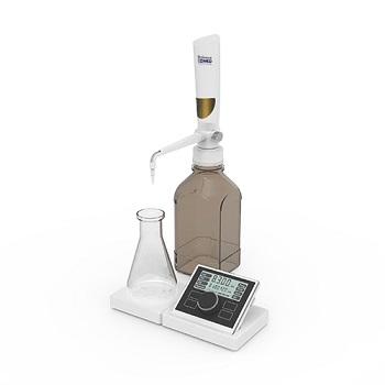 Utilizada para realizar titulaciones directamente desde el frasco de reactivo. Ofrece exactitud, precisión y comodidad. Rango volumen: 0.01-99.99 ml;
