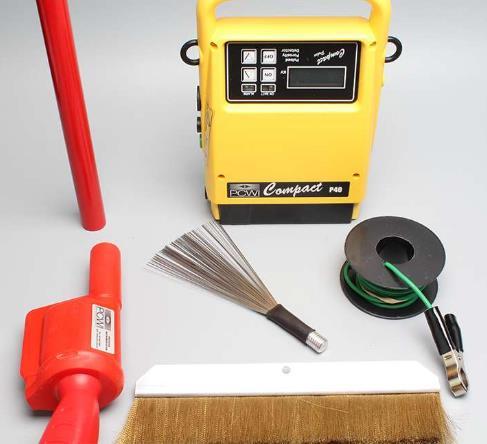 Probador de chispa, porosimetro, detector tipo Holiday, Jeeper, detector de fallas de recubrimiento, etc. Voltaje de prueba 0 a 40kV. Pila recargable