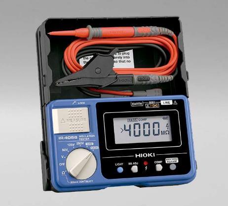 Comprobador de resistencia de aislamiento digital de 5 rangos 50 V/100 MΩ a 1000 V/4000 MΩ. Comprobación de continuidad a través de pruebas de 200
