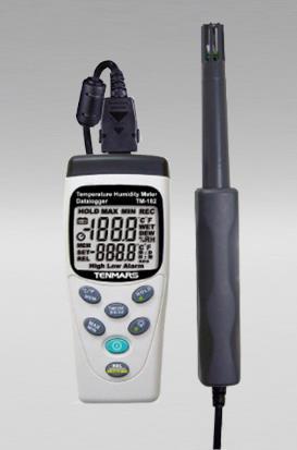 Medidor de temperatura/Humedad,temperatura de punto de rocío y bulbo húmedo, Sensor Integrado, Datalogger, Modelo TM182 Tenmars.