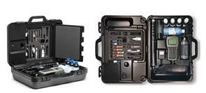 Portátil impermeable mide hasta 14 parámetros diferentes de la calidad del agua incluyendo amonio, cloruro, nitrato y temperatura. GPS opcional ubic