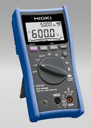 Multímetro digital diseñado para la maxima seguridad con terminales de medicion de voltaje protegidos por un fusible. Voltaje CA 600.0 mV a 1000 V