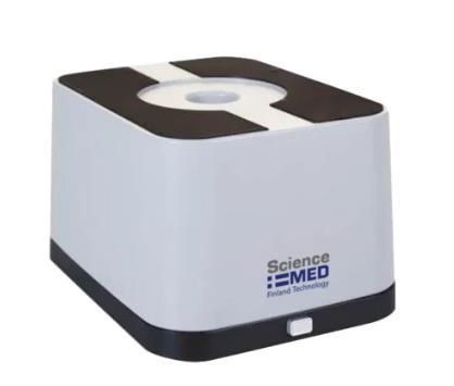 Utilizado para el análisis cualitativo en la purificación y/o separación de ácidos nucleicos y proteínas. Utiliza luz epi-azul en vez de ultravi
